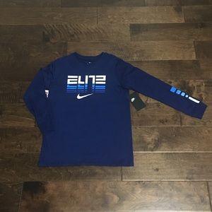 Nike Big Boy's NSW Elite Long Sleeve T-Shirt, Sz M